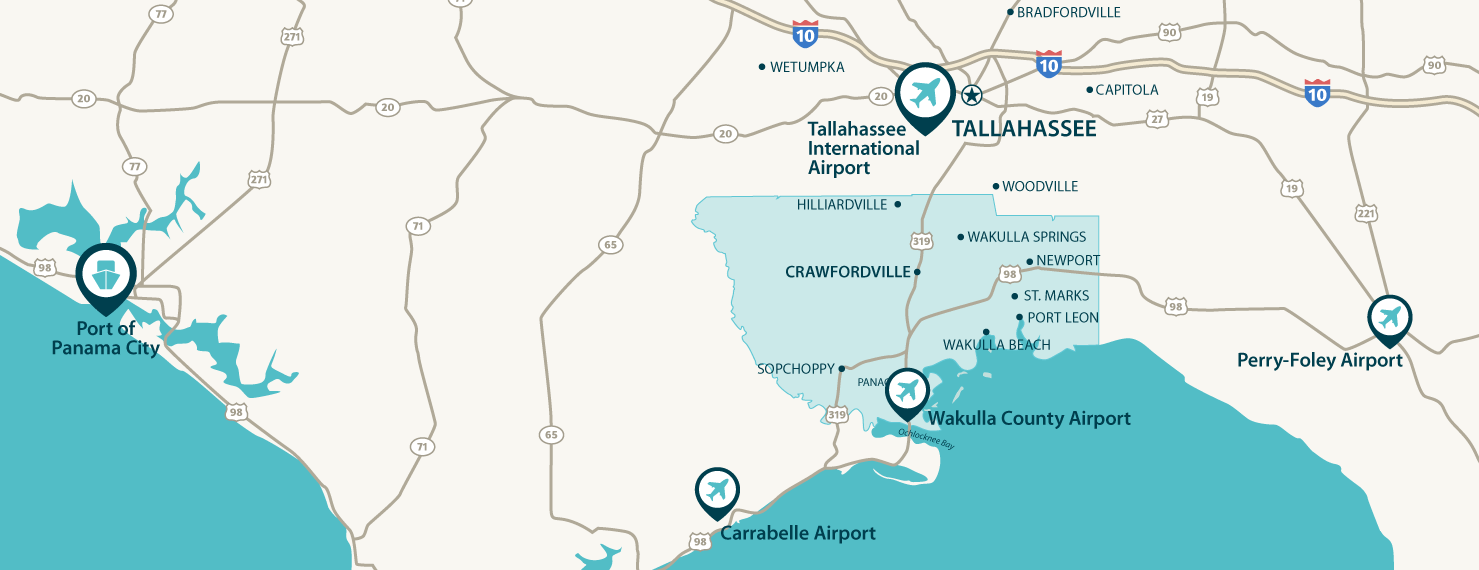 Map Of Wakulla County Florida.Wakulla Economic Development Council
